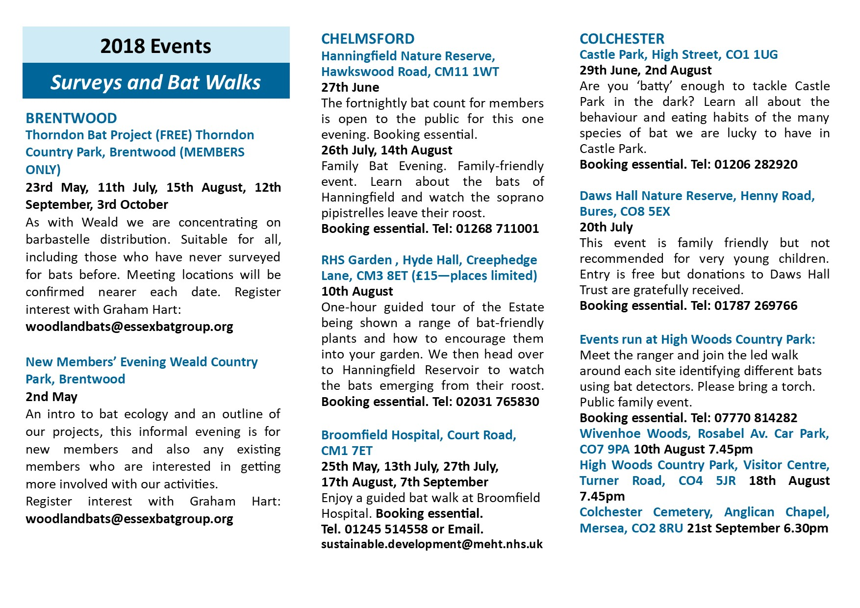 2018 Events Essex Bat Group On Electricity It Walks Kids Through The Nature Of And Our Calendar For Can Be Found Below
